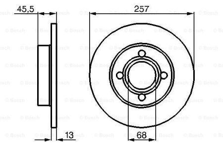 Гальмівний диск AUDI 100 Avant (43, C2) / AUDI 90 / AUDI 80 / AUDI 100 (43, C2) 1976-1991 р.