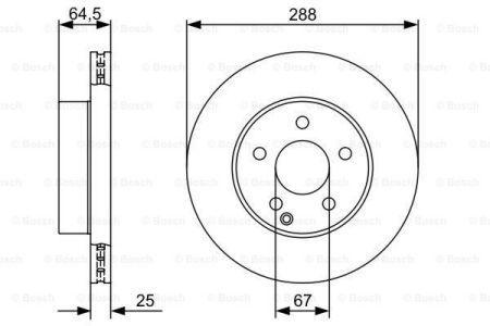 Тормозной диск MERCEDES-BENZ C-CLASS (W204) / MERCEDES-BENZ C-CLASS купе (C204) 2007-2015 г.