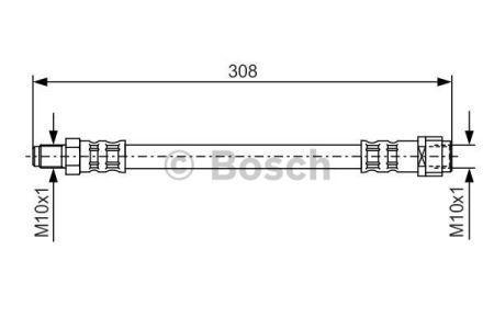 Тормозной шланг MERCEDES-BENZ CLC-CLASS (CL203) / MERCEDES-BENZ SLK (R170) 1989-2011 г.