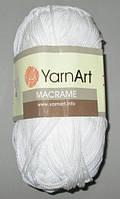Нитки ЯрнАрт Макраме, белые