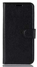 Кожаный чехол-книжка для Oneplus 6T (A6013) черный
