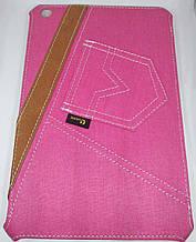 Уникальный чехол книжка для Apple ipad mini 1 2 3 джинс розовый