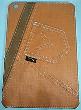 Уникальный чехол книжка для Apple ipad mini 1 2 3 джинс оранжевый