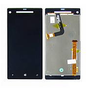 Дисплей для HTC C620e 8X с чёрным тачскрином