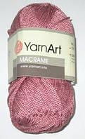Нитки ЯрнАрт Макраме, темно-розовые