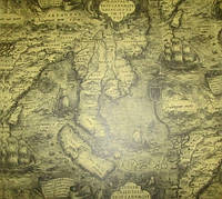 Бумага крафт 60*60 см, Античная Карта