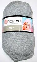 Пряжа Yarn Art Baby, серая