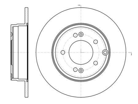 Гальмівний диск HYUNDAI SONATA VII (LF) / HYUNDAI / KIA / KIA (DYK) K5 / HYUNDAI 2003-2012 р.