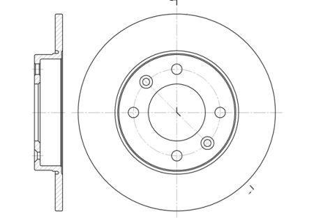 Гальмівний диск FENGSHEN S30 седан CITROEN C3 I (FC_, FN_) / CITROEN C2 (JM_) 1996-2015 р.