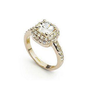Кільце ювелірна біжутерія золото 18 декор кристали Swarovski