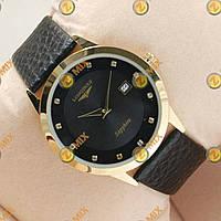 Часы Longines Slim Quartz Gold/Black