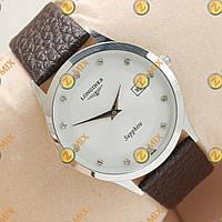Часы Longines Slim Quartz Silver/White