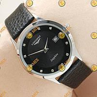 Часы Longines Slim Quartz Silver/Black