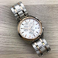Tissot T-Classic Couturier Chronograph Steel Alt Silver-Gold-Gold-White