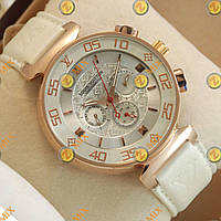 Часы Louis Vuitton Chronograph Gold/White