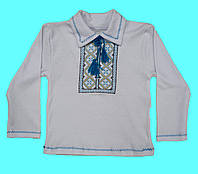 Детская рубашка вышиванка для мальчика, с воротником и с длинным рукавом
