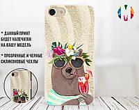 Силиконовый чехол для Huawei P30 Медведь на море (13008-3305)