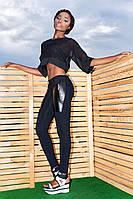 """Облегающие женские брюки с кожаными вставками """"Чикаго"""", фото 1"""