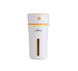 Ультразвуковой мини увлажнитель воздуха Mini humidifier Белый с желтым 15668Y, КОД: 307801