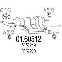 Глушитель OPEL ASTRA G седан (T98) 1998-2009 г.