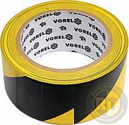 Оградительная сигнальная жёлто-серая лента 33метра Vorel 75231