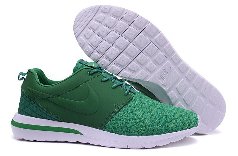04181aae1500 Мужские кроссовки Nike Roshe Run Flyknit зеленые - Интернет магазин обуви  Shoes-Mania в Днепре