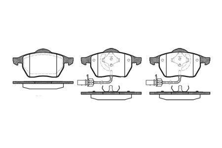 Тормозные колодки, к-кт. ZHONGHUA / AUDI A6 (4A2, C4) / AUDI A6 (4F2, C6) 1994-2012 г.