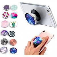 Универсальный держатель для телефона Popsocket монолитный, разные цвета, пластик, держатель, держатель для телефона