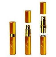 Флакон для парфюмерии дорожный Gold с пульверизатором, алюминий, 5мл, золотистый, флакон под духи, парфюм, парфюмерия, Флаконы