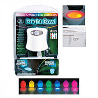 Подсветка LED для унитаза с датчиком движения LightBowl 8 цветов, автоотключение, от батареек, умная подсветка унитаза
