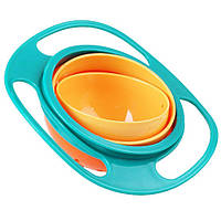 Тарелка непроливайка для детей Gyro Bown размер 17,8х7см, пластик, тарелка-непроливайка, детская тарелка непроливайка