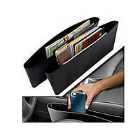 Автомобильный органайзер между сиденьями Catch Caddy 2шт, размер 370х80х50мм, винил, карман-органайзер