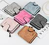Женский замшевый кошелек 2346 Wallerry малиновый, отеделения для денег/мелочи/карточек, кошелек женский