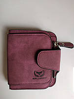 Гаманець жіночий 2346 Wallerry бордовий, розміри 12х11х3см, штучна замша, Гаманець, Портмоне, гаманці