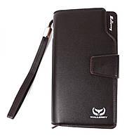 Мужское портмоне Wallerry 618 коричневый, эко-кожа, с ремешком, портмоне, кошелек, мужские кошельки, Baellerry