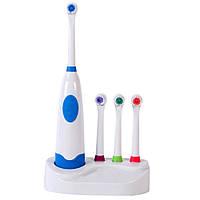 Электрическая зубная щетка с насадками №A101 от батареек, 4 насадки, 7500 в мин, подставка, электрическая зубная щетка