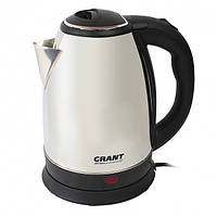 Электрический чайник Grant DT-0418 нержавеющая сталь, 2л, 1500Вт, закрытая спираль, электрические чайники, чайник