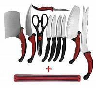 Набор кухонных ножей Contour Pro Knives 10в1 с магнитным держателем, лезвиянержавеющая сталь/заточка двусторонняя
