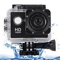 "Водонепроницаемая спортивная экшн камера Action Camera D600 черная, 900мАч, 16Мп, microUSB, дисплей 2"", экшн-камера, камера"