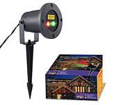 Уличный декоративный лазерный проектор laser light 85 поворотная ножка, IP65, проекция от 5 до 50м, провод 3м, проэкторы
