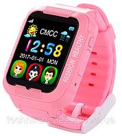Детские умные часы для девочек Smart Watch K3 розовые, 380 мАч, IPS, 2Мп, сенсор, влагонепроницаемый, MicroUSB, Bluetooth