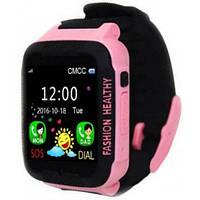 Умные детские часы Smart Baby Watch K3 черно-розовые, 16Гб, MP3 USB micro nano Sim GPS 2Мп, от аккумулятора 380mAh