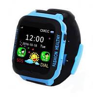 Умные детские часы Smart Baby Watch K3 черно-синий, 16Гб, MP3 USB micro nano Sim GPS 2Мп, от аккумулятора 380mAh