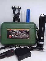 Тактический велосипедный фонарик 8628 XPE, от акумулятора Li-ion 18650/батареек, три режима, Zoom, ручной фонарь