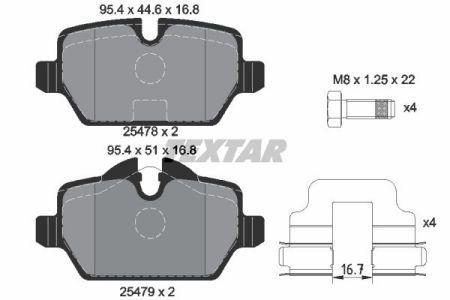 Тормозные колодки дисковые MINI MINI PACEMAN (R61) 2010-2016 г.