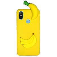 Чехол Cartoon 3D Case для Xiaomi Mi Max 3 Бананы