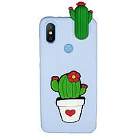 Чехол Cartoon 3D Case для Xiaomi Mi Max 3 Кактусы