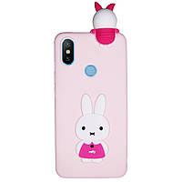 Чехол Cartoon 3D Case для Xiaomi Mi Max 3 Кролик