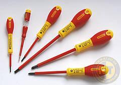 """Набор изолированных отверток электрика """"FatMax VDE 1000V"""" под прямой шлиц и шлиц """"Pozidriv"""" (6 шт.) STANLEY 0-65-443"""