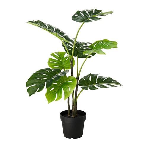 ИКЕА (IKEA) ФЕЙКА, 403.952.88, Искусственное растение в горшке, внутри / снаружи монстр, 19 см - ТОП ПРОДАЖ